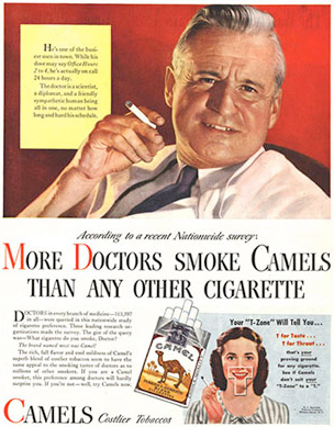 doctor recommended cigarette ad